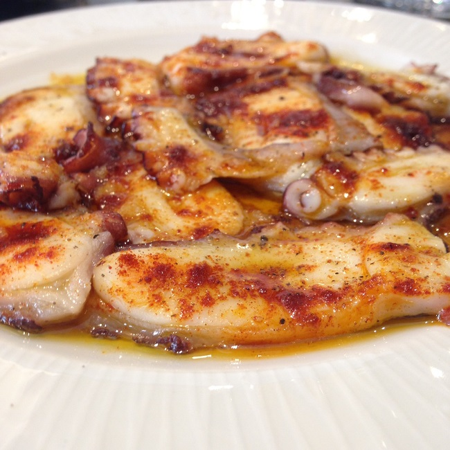 Grilled octopus with JP pimenton